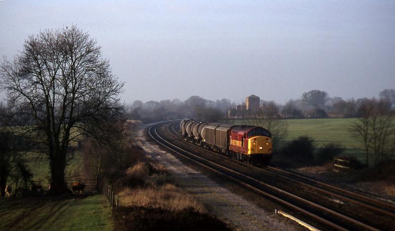 37704, 04.53 St Blazey-Newport Alexandra Dock Junction, Cogload, 28-1-97.