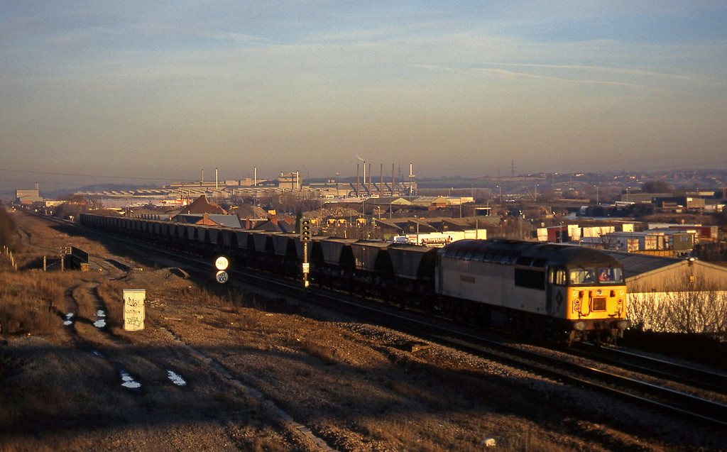 56135, up mgr empties, Rotherham, 14-1-97.