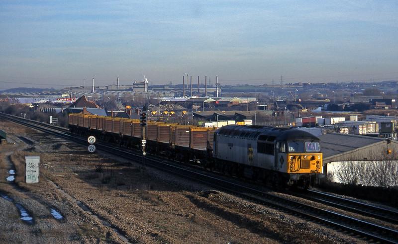 56134, up steel empties, Rotherham, 14-1-97.