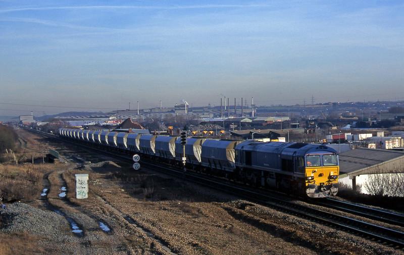 59205, Ferrybridge Power Station-Tunstead, Rotherham, 14-1-97.