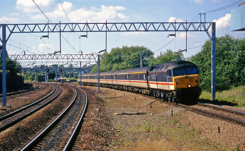 47839, 15.10 Manchester Piccadilly-Birmingham New Street, Norton Bridge, near Stafford, 8-7-97.