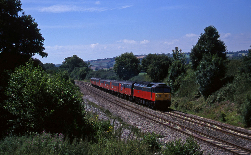 47575, 12.44 Plymouth-Glasgow, Whiteball, 29-7-97.