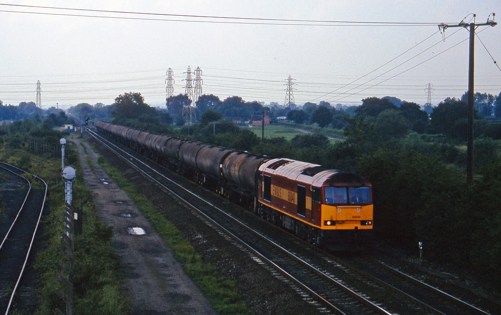 60040, 10.37 Kingsbury-Humber, Stenson Junction, near Derby, 8-7-97.