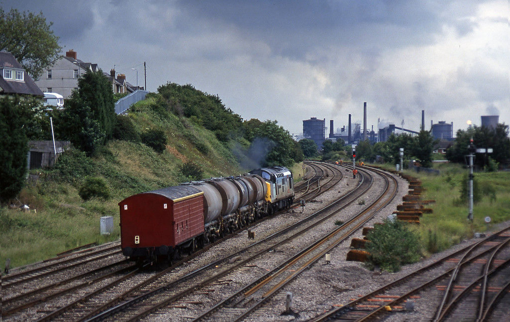 37671,13.45 Newport Alexandra Dock Junction-St Blazey, Somerton, Newport, 1-7-97.