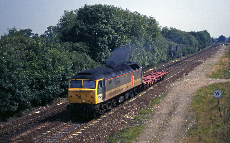 47228, up wagon, Stenson Junction, near Derby, 8-7-97.