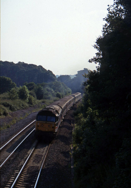 47827, 16.50 Plymouth-Sheffield, Whiteball, 21-7-97.