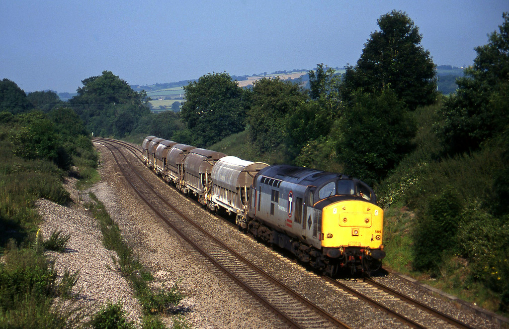 37889, 04.56 St Blazey-Newport Alexandra Dock Junction, Whiteball, 9-7-97.