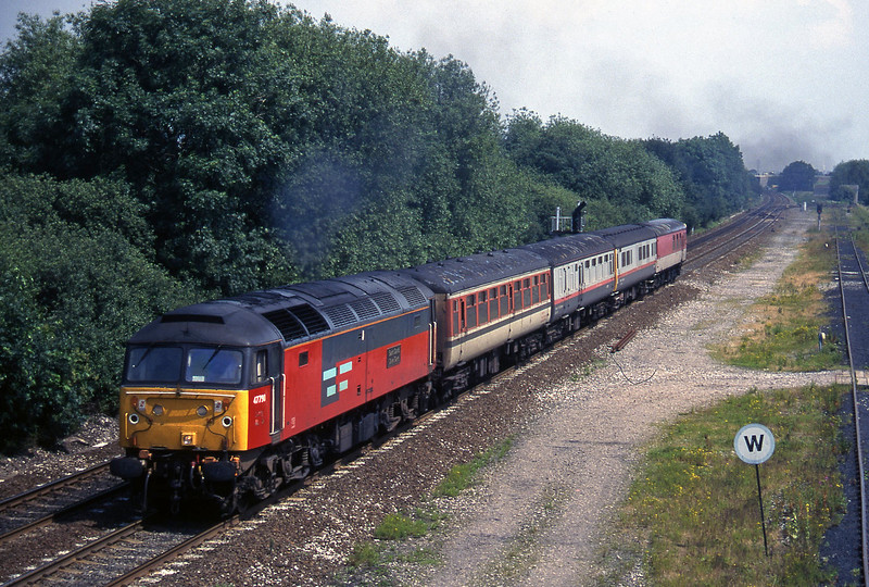 47790, up test train, Stenson Junction, near Derby, 8-7-97.
