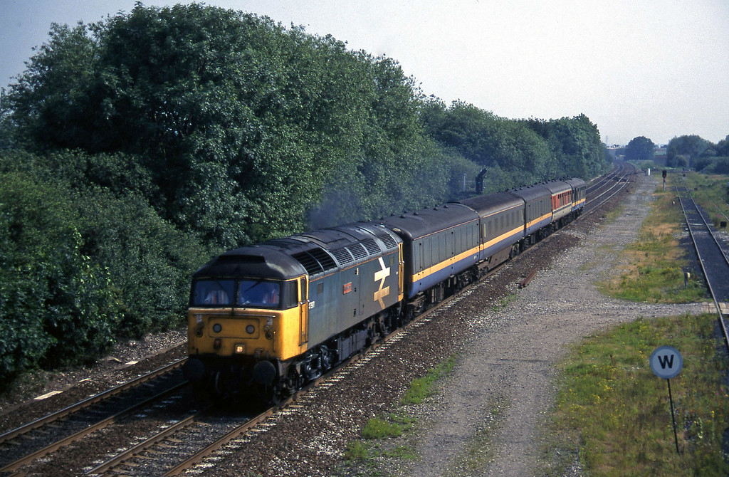 47971, up test train, Stenson Junction, near Derby, 8-7-97.