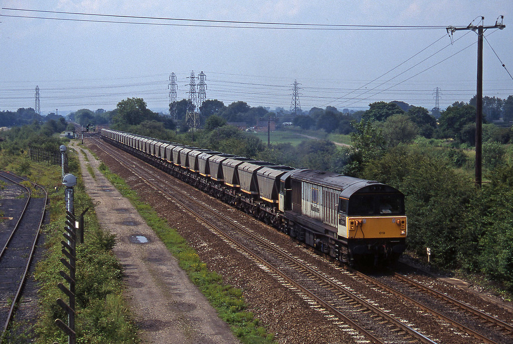 58019, Drakelow Power Station-Denaby, Stenson Junction, near Derby, 8-7-97.