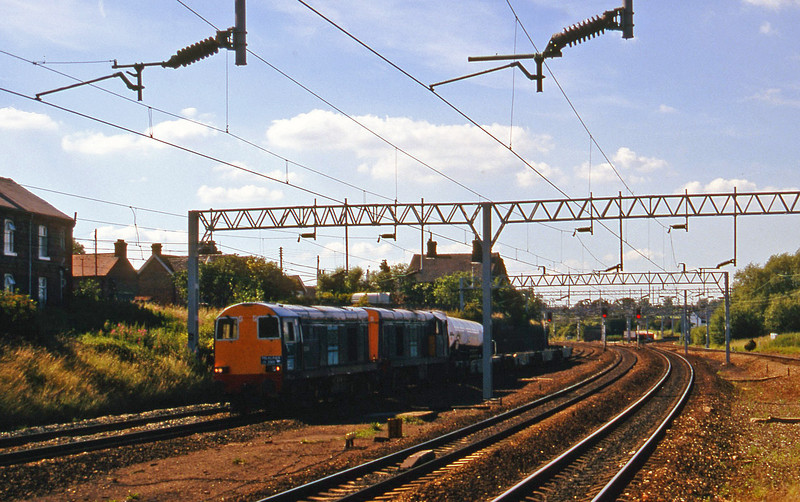 20304/20303, Penrith-Cricklewood milk, Norton Bridge, near Stafford, 8-7-97.