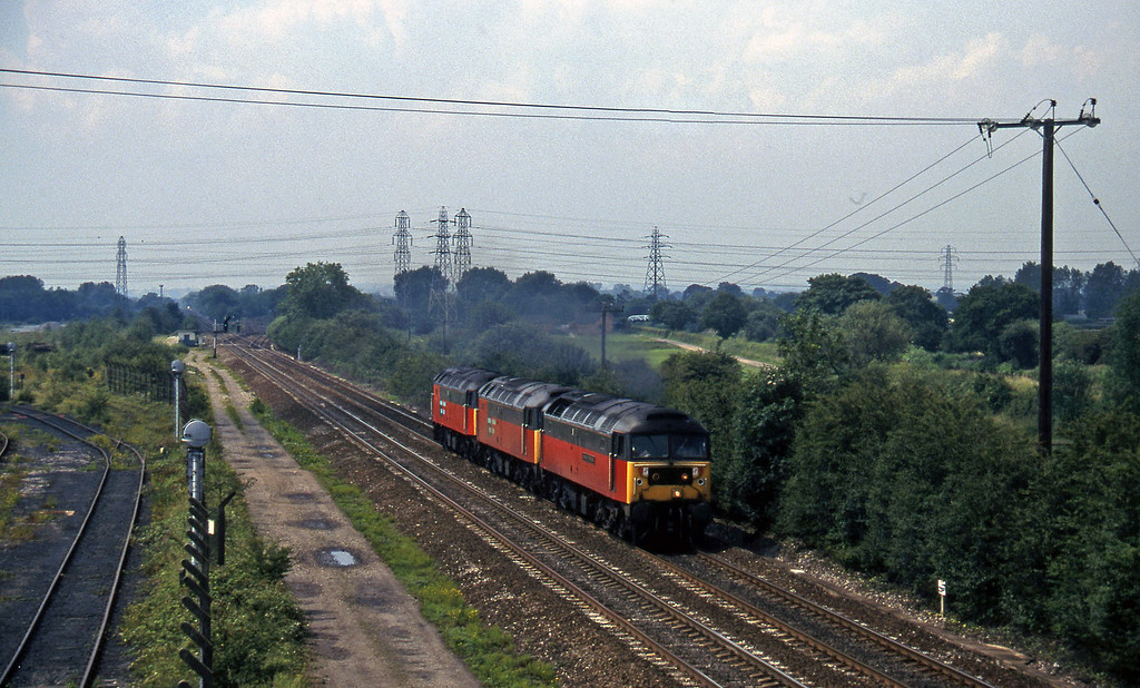 47640/47596/47780, downlight, Stenson Junction, near Derby, 8-7-97.