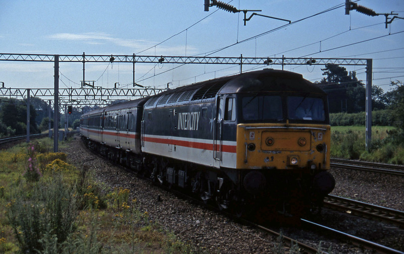 47822, 10.04 Birmingham New Street-Manchester Piccadilly, Norton Bridge, near Stafford, 22-7-97.