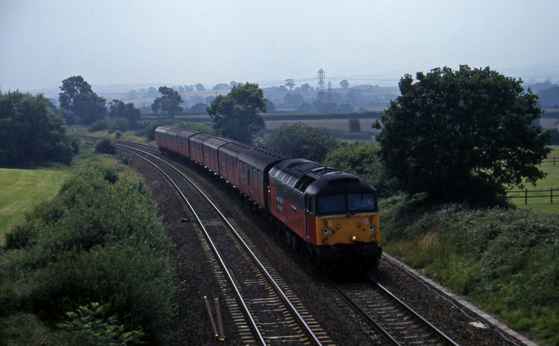 47747, 12.44 Plymouth-Glasgow, Willand, near Tiverton, 10-7-97.