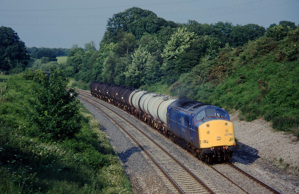 37798, 13.34 Fawley-Plymouth Tavistock Junction Yard, Whiteball, 4-7-97.