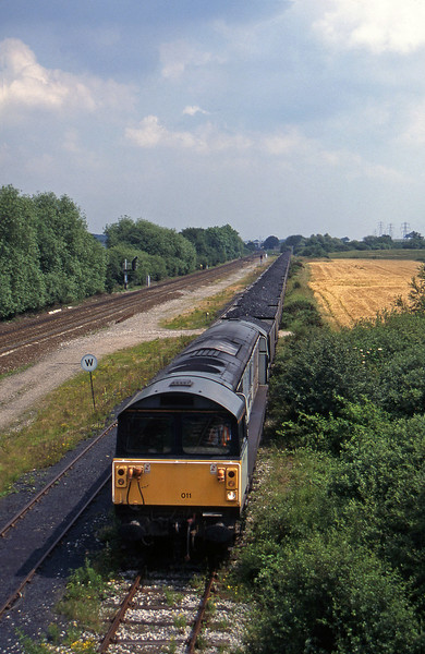58011, Toton-Willington Power Station, Stenson Junction, near Derby, 8-7-97.