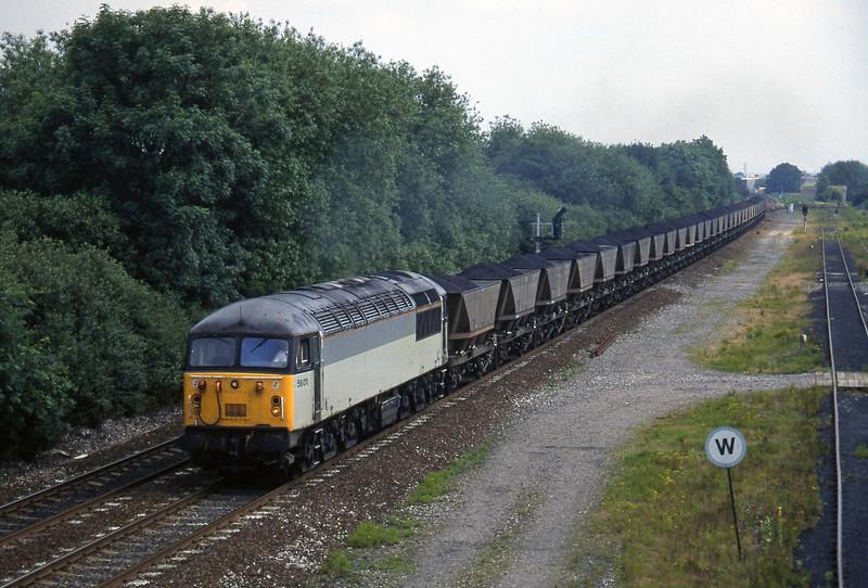 56011, up mgr, Stenson Junction, near Derby, 8-7-97.
