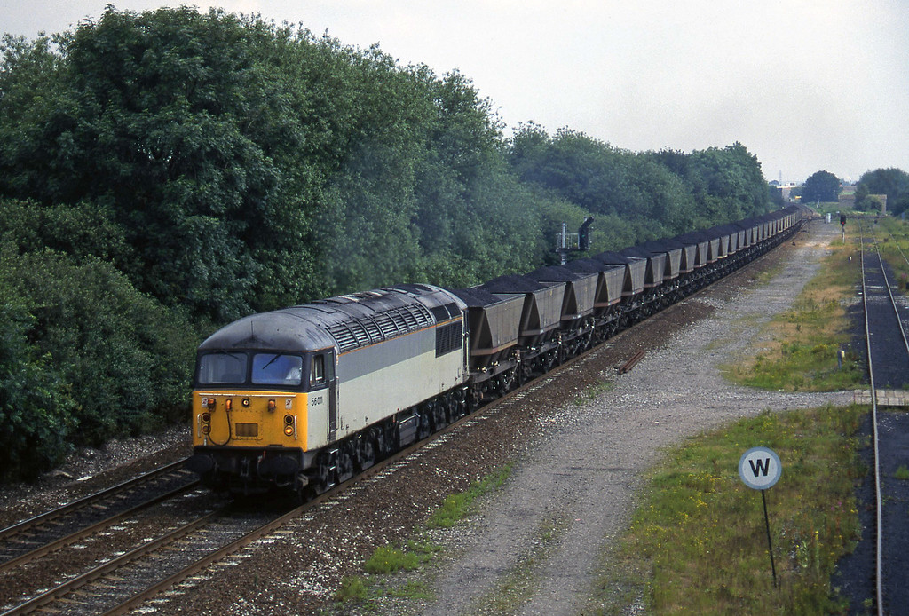 56011, up mgr, Stenson Junction, near Derby, 8-7-97.