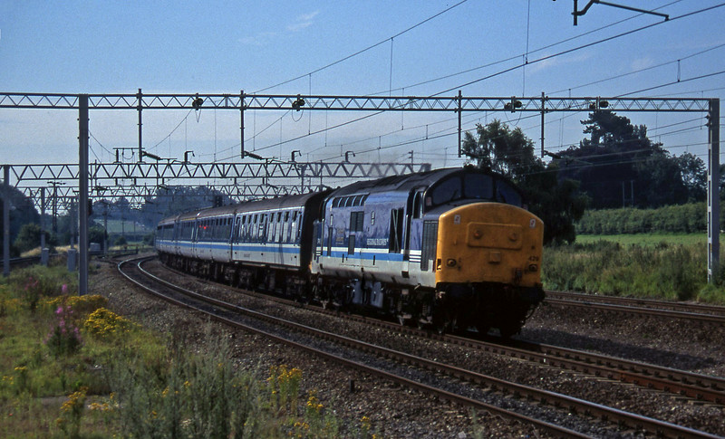 37429, Birmingham New Street-Holyhead, Norton Bridge, near Stafford, 22-7-97.