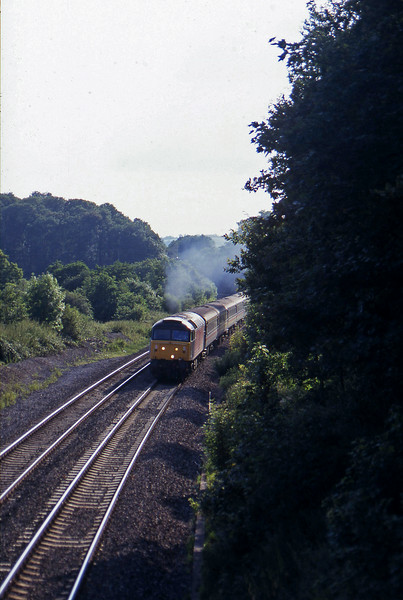 47844, 16.50 Plymouth-Sheffield, Whiteball, 28-7-97, checked by preceding 158.
