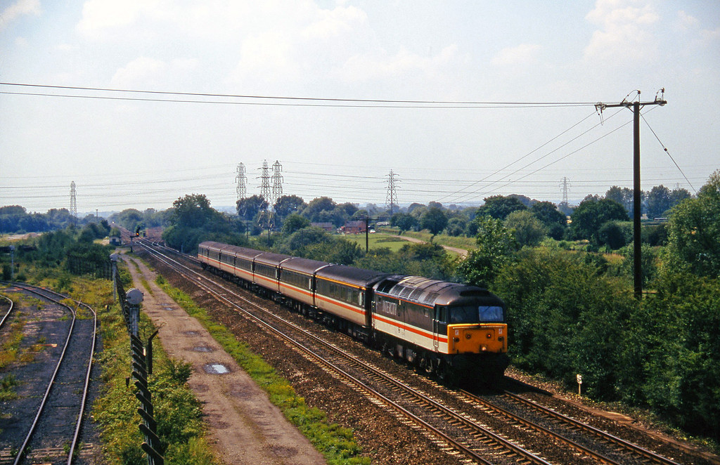 47805, 12.45 Bimingham New Street-York, Stenson Junction, near Derby, 8-7-97.