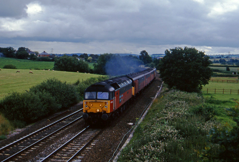 47768, 13.53 Plymouth-Bristol Temple Meads, Willand, near Tiverton, 15-7-97.