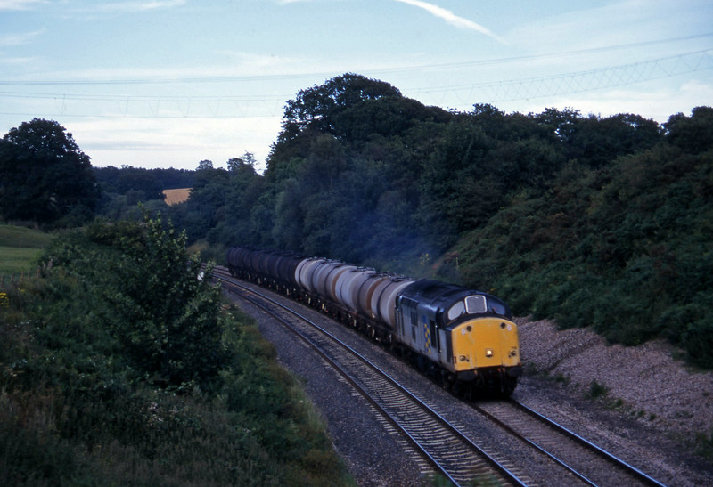 37719, 13.34 Fawley-Plymoiuth Tavistock Junction Yard, Whiteball, 29-7-97.