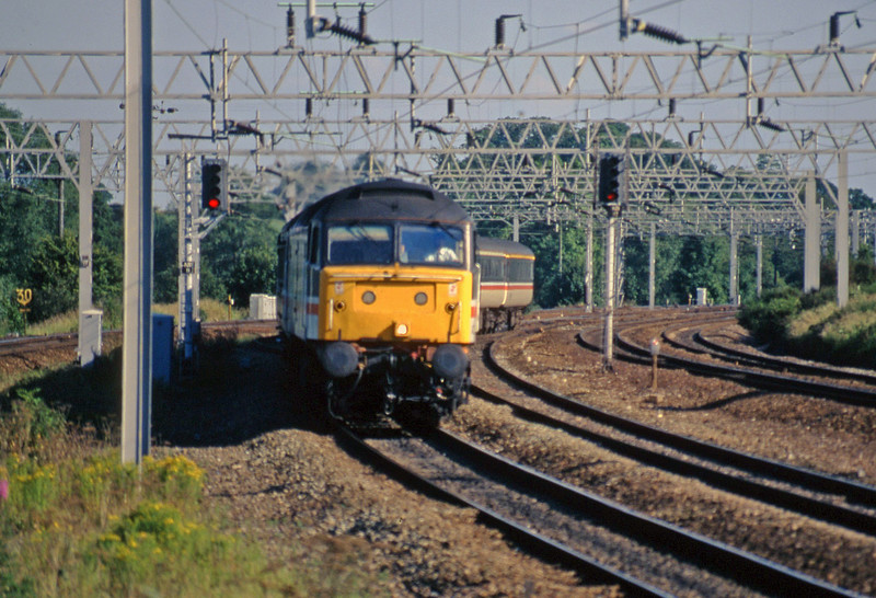 47839, 17.18 Birmingham New Street-Manchester Piccadilly, Norton Bridge, near Stafford, 8-7-97.