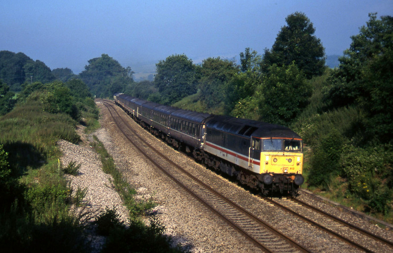 47813, hunt special to London Paddington, Whiteball, 10-7-97.