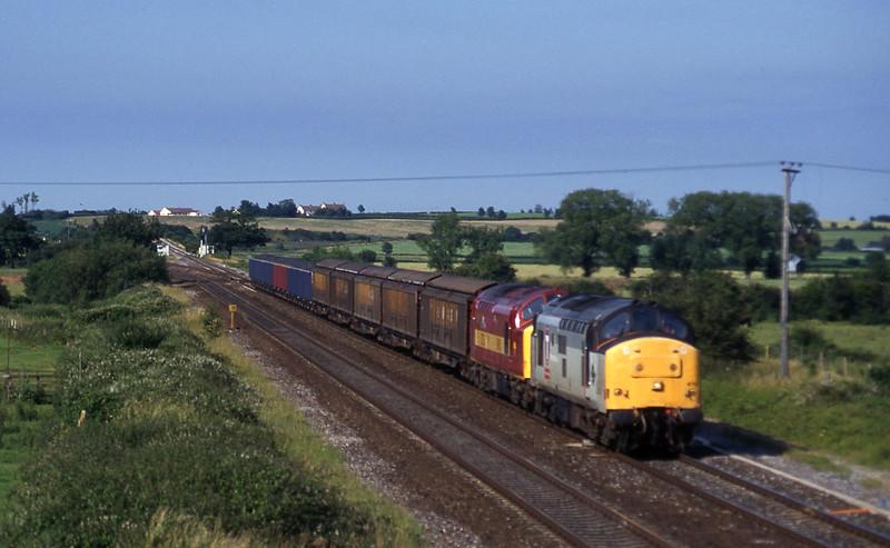 37673/37521, 3.45 Newport Alexandra Dock Junction-St Blazey, Cogload, 7-7-97.