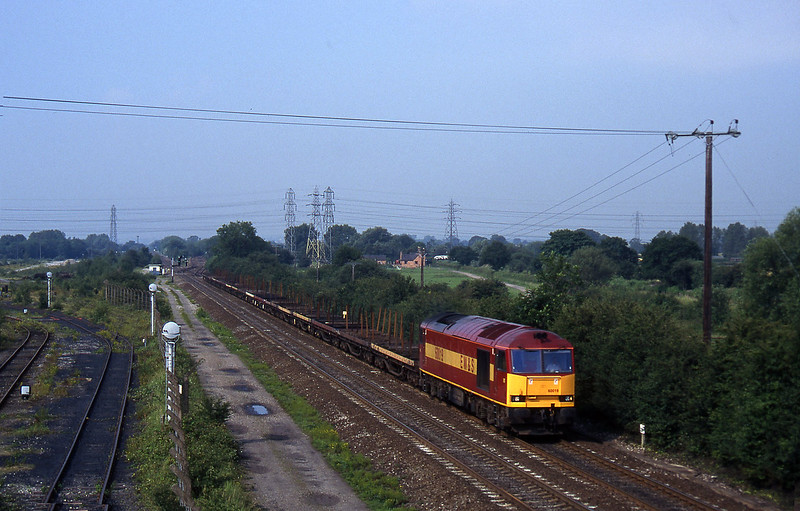 60019, 07.05 Wolverhampton-Scunthorpe, Stenson Junction, near Derby, 8-7-97.
