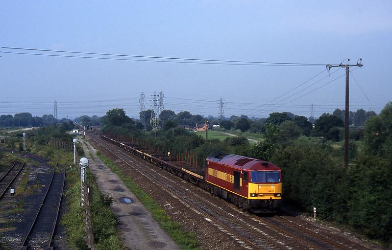 60019, 07.05 Wolverhampton-Scunthorpe, Stenson Junction, near Derby, 8-7-97.