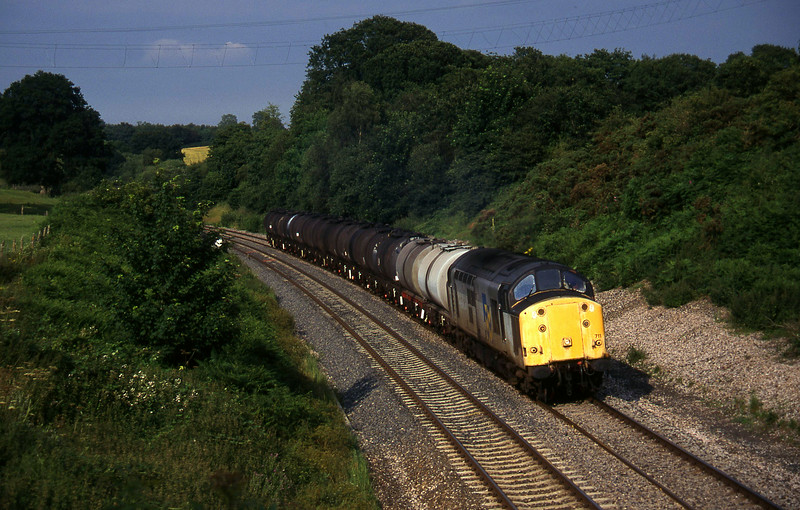 37711, 13.34 Fawley-Plymouth Tavistock Junction Yard, Whiteball, 18-7-97.