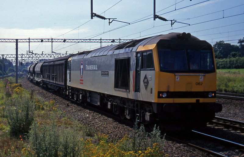 60062, 11.10 Bescot Yard-Cliffe Vale, Norton Bridge, near Stafford, 22-7-97.