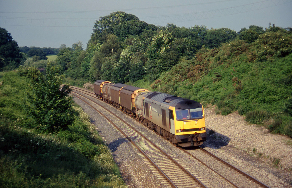 60089, 13.45 Newport Alexandra Dock Junction-St Blazey, Whiteball, 4-7-97.