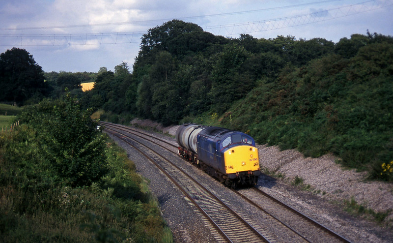 37798, 17.03 Westbury-Plymouth Tavistock Junction Yard, Whiteball, 23-7-97.