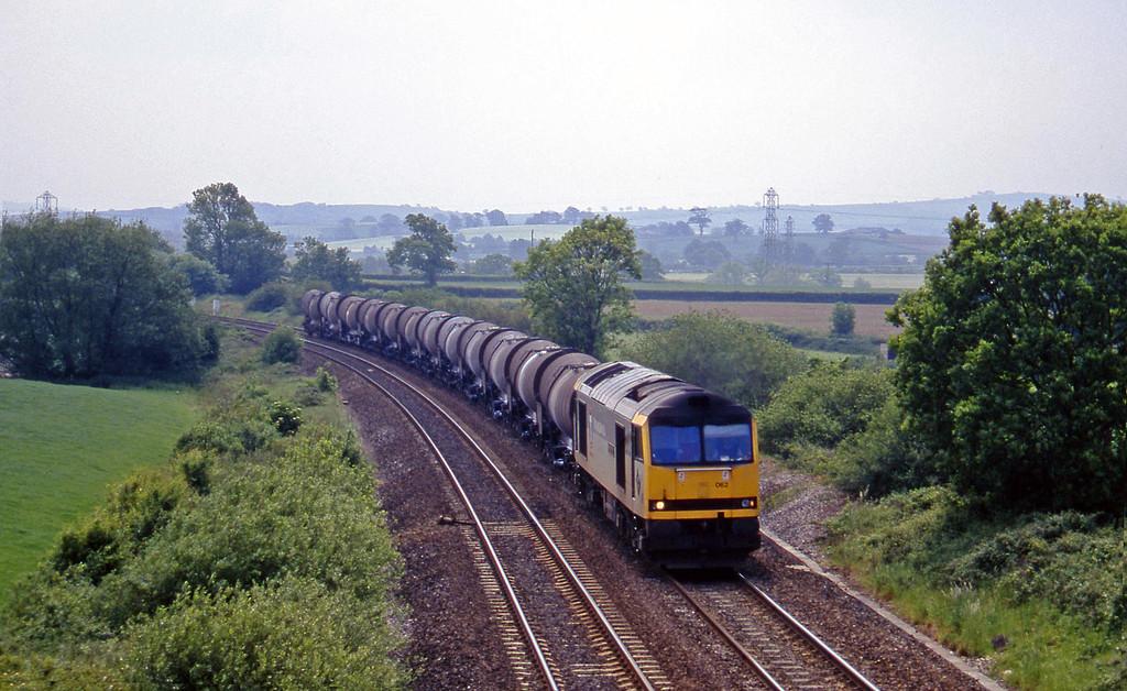 60062, 09.40 Burngullow-Newport Alexandra Dock Junction, Willand, near Tiverton, 3-6-97.