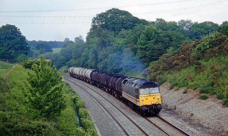 47523, 13.34 Fawley-Plymouth Tavistock Junction Yard, Whiteball, 3-6-97.