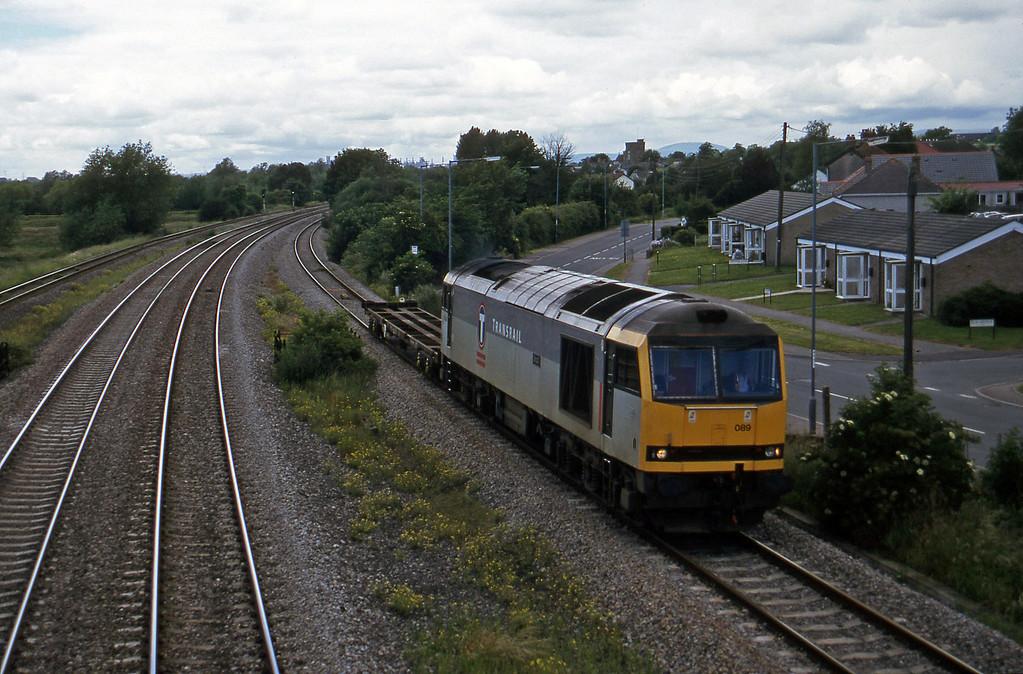 60089, 13.45 Newport Alexandra Dock Junction-St Blazey, Undy, 25-6-97.
