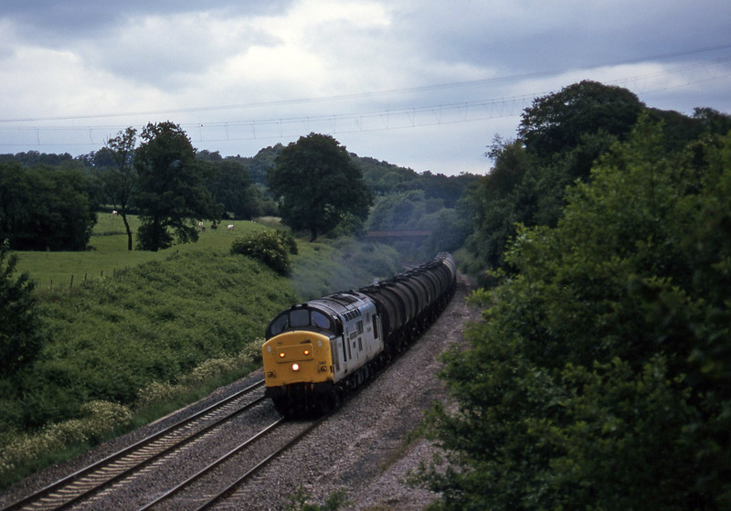37890, 13.34 Fawley-Plymouth Tavistock Junction Yard, Whiteball, 24-6-97.