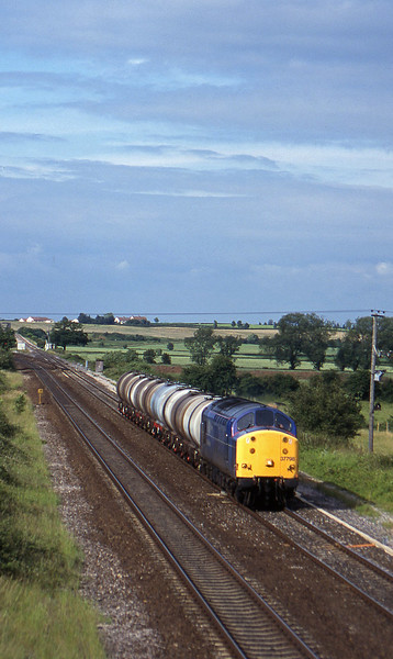 37798, 13.34 Fawley-Plymouth Tavistock Junction Yard, Cogload, 23-6-97.