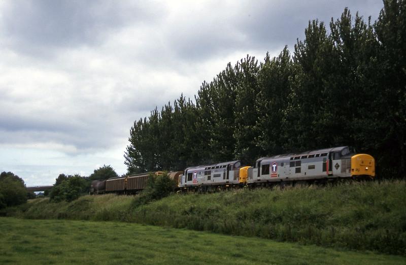 37670/37674, 13.45 Newport Alexandra Dock Junction-St Blazey, Beambridge, near Wellington, 23-6-97.