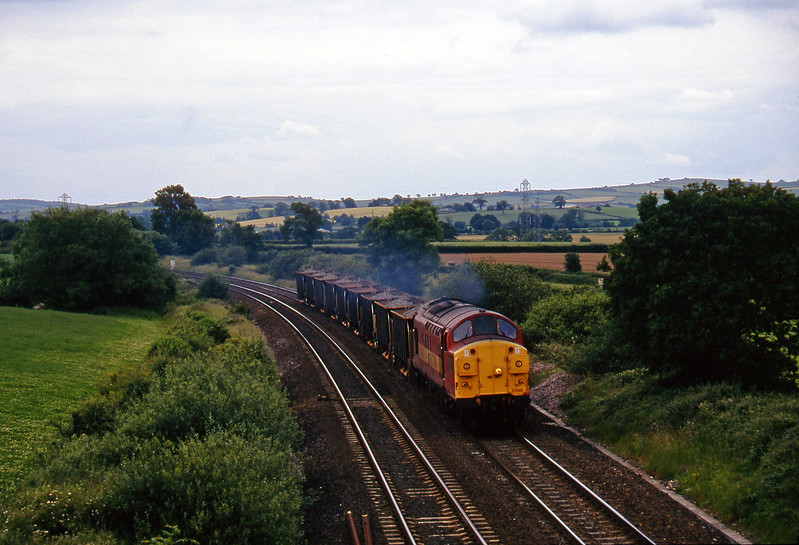 37040, up ballast, Willand, near Tiverton, 24-6-97.