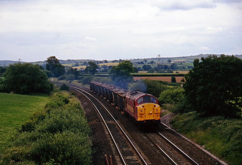 37040, up ballast, Willand, near Tiverton, 24-6-97.