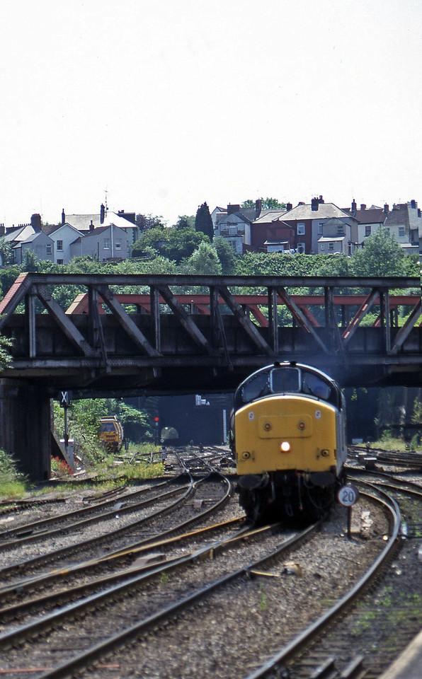 37670/37668, 13.45 Newport Alexandra Dock Junction Yard-St Blazey, Newport, 17-6-97.