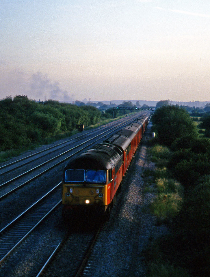 47775, 20.04 Cardiff-Glasgow TPO, St Mellons, near Cardiff, 17-6-97.
