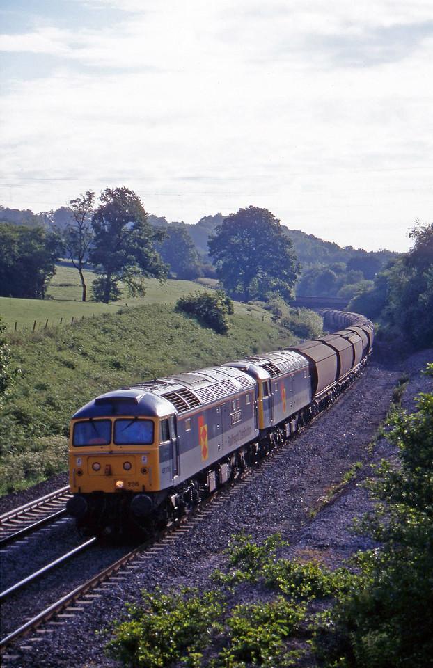 47236/47312, Dollands Moor-Exeter Riverside Yard, Whiteball, 16-6-97.