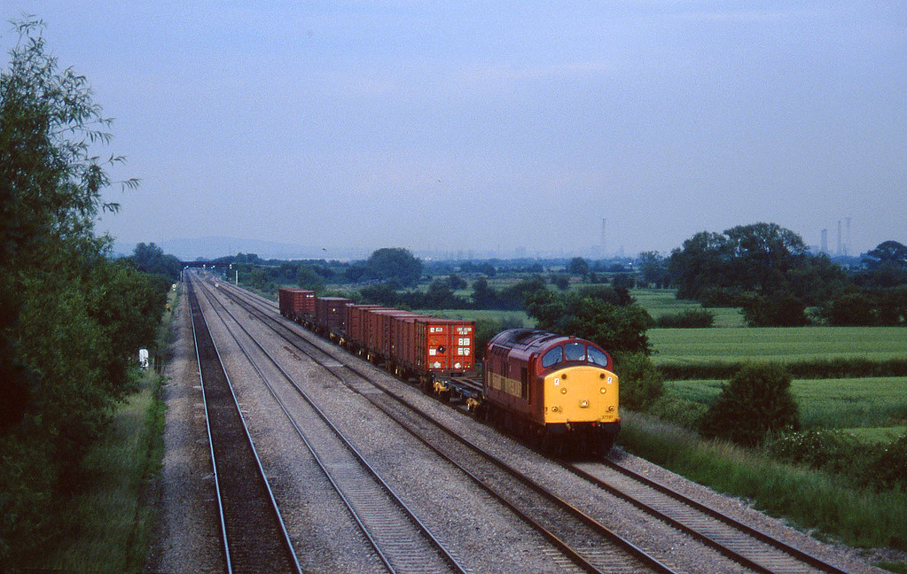 37707, down Freightliner, St Mellons, near Cardiff, 17-6-97.
