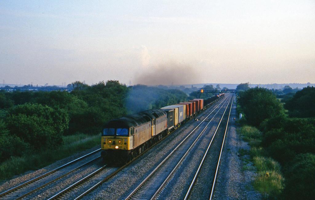47330/47290, 18.20 Cardiff Pengam-Coatbridge, St Mellons, near Cardiff, 17-6-97.