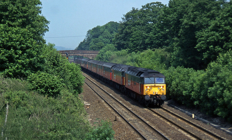 47776/47772, 12.15 Bristol Temple Meads-Plymouth, Willand, near Tiverton, 4-6-97.
